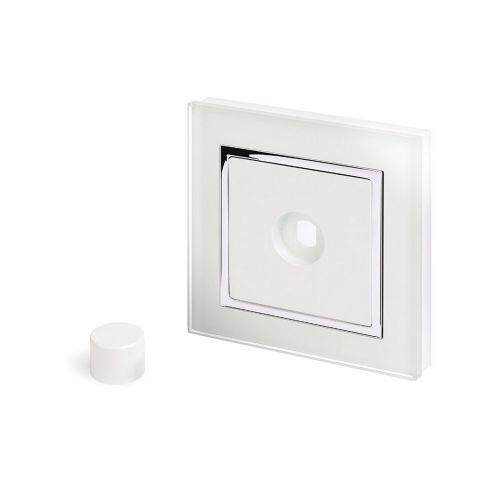 RetroTouch 1 Gang LED Dimmer Plate White Glass CT 02050
